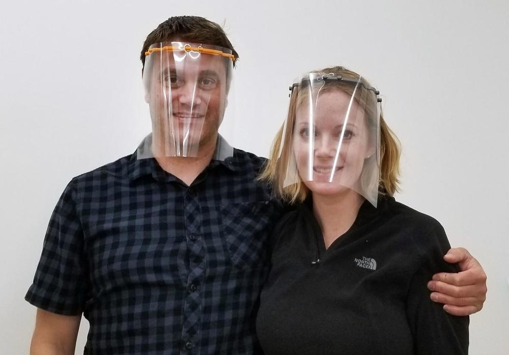 Teacher uses 3D printer, student help to create face masks for healthcare workers