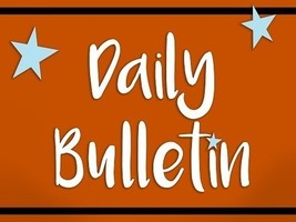 Daily Bulletin for September 13, 2019