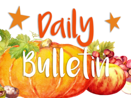 Daily Bulletin for November 12, 2019